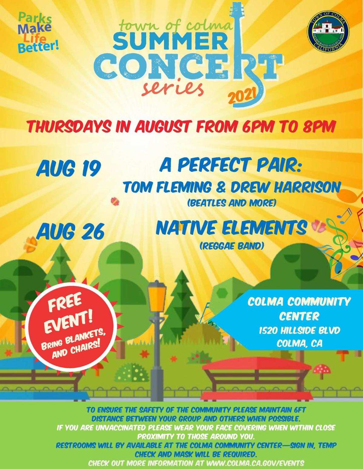 Colma Concerts in the Park