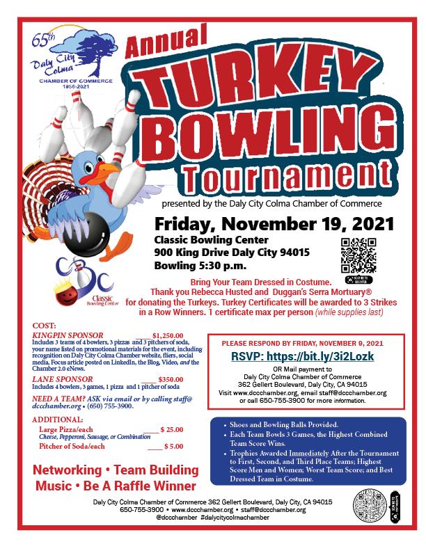 Register Today for Turkey Bowling Nov 19