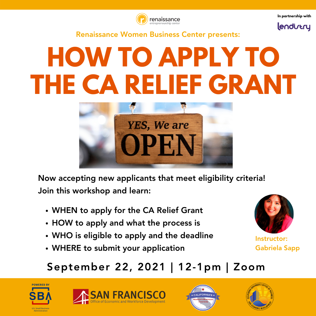 How to apply for CA Relief Grant