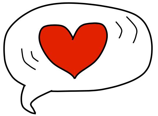 heart bubble kind message