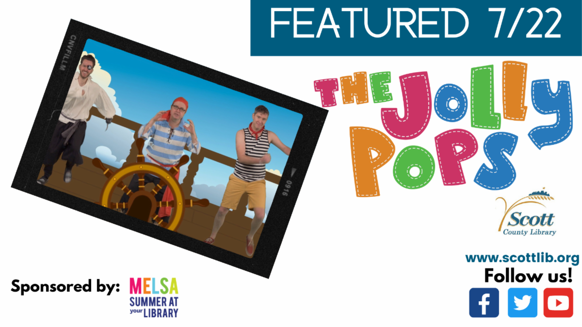 graphic of the Jolly Pops musicians with text: Featured 7/22