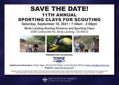 Flyer for Sporting Clays for Scouting event