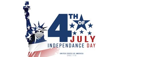 4th of July_ USA celebration of Independence day -  Banner illustration