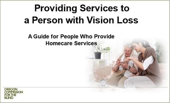 image: title slide from a presentation OCB has created for homecare workers