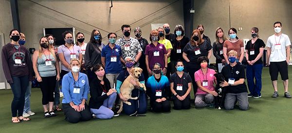 Canine Rehabilitation Veterinary Nurse August 2021 class photo