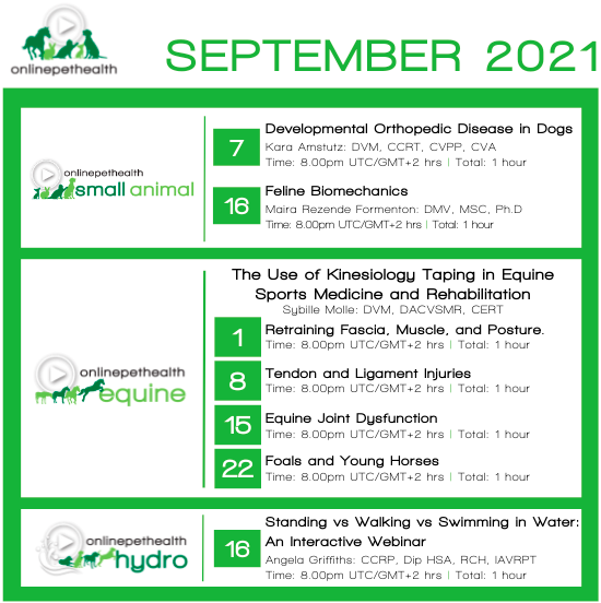 Onlinepethealth - September 2021 events