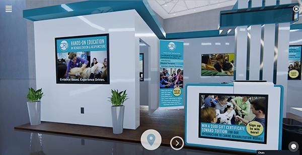 CRI's booth at Virtual VMX