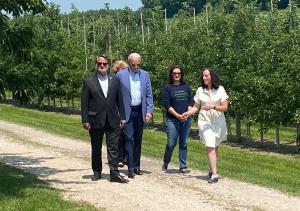 Juliette King with President Biden July 2021